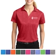 Sport-Tek Ladies' Heather Contender Polo - Women's polo shirt made from 100% polyester jersey.