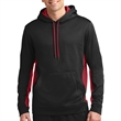 Sport-Tek Sport-Wick Fleece Colorblock Hooded Pullover - Pullover hooded sweatshirt made from 100% polyester.