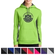 Sport-Tek Ladies' Sport-Wick Fleece Colorblock Hooded Pul... - Women's pullover hooded sweatshirt made from 100% polyester.