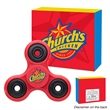 Fun Spinner With Custom Box - Spinner toy with 1- 4 color / 1 location imprint and four color processed custom box.