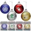 Light Up Glass Christmas Ornament-Blue with Multicolor LED
