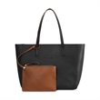 Bristol Fashion Tote - Fashionable tote bag made of simulated leather with included wristlet for organization on the go.