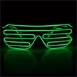 Light Up Sunglasses - Slotted - Green EL Wire - Light Up Sunglasses - Slotted - Green EL Wire