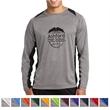 Sport-Tek Long Sleeve Heather Colorblock Contender Tee - 3.8 oz. long-sleeve t-shirt made from 100% polyester jersey.