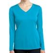 Sport-Tek Ladies' Long Sleeve PosiCharge Competitor V-Nec... - Ladies long-sleeve V-neck t-shirt made from 100% polyester interlock.