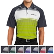 Sport-Tek Dry Zone Sublimated Stripe Polo - 4 oz. polo shirt made from 100% polyester mini pique.