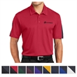Sport-Tek PosiCharge Active Textured Colorblock Polo - 3.4 oz. polo shirt made from 100% polyester mesh with PosiCharge technology.