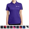 Sport-Tek Ladies' PosiCharge Active Textured Colorblock Polo - 4 oz. ladies polo shirt made from 100% polyester mesh with PosiCharge technology.