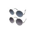 Metal Round Sunglasses with Ocean Color Lens - Round metal aviator-style sunglasses with oceanic color lens and sweat  bar. Available in assorted colors.