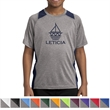 Sport-Tek Youth Heather Colorblock Contender Tee - Youth t-shirt made from 100% polyester jersey with interlock panels.