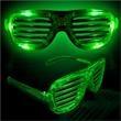 Light Up Sunglasses - Slotted Green LED - Light Up Sunglasses - Slotted Green LED
