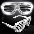 Light Up Sunglasses - Slotted - White LED - Light Up Sunglasses - Slotted - White LED