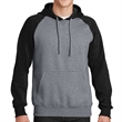 Sport-Tek Raglan Colorblock Pullover Hooded Sweatshirt - Pullover hooded sweatshirt made from 65/35 ringspun combed cotton/poly fleece.