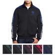 Sport-Tek Dot Sublimation Tricot Track Jacket - Track jacket made from 100% polyester tricot.