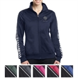 Sport-Tek Ladies' Dot Sublimation Tricot Track Jacket - Ladies track jacket made from 100% polyester tricot.