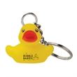 Rubber Duck Keytag - Rubber duck shaped key tag with imprinting options.