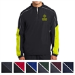 Sport-Tek Piped Colorblock 1/4-Zip Wind Shirt - Water-repellent 1/4-zip windshirt made from 100% polyester.