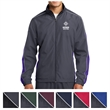 Sport-Tek Piped Colorblock Wind Jacket - Water-repellent wind jacket made from 100% polyester.
