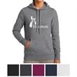 Sport-Tek Ladies' Pullover Hooded Sweatshirt - Ladies pullover hooded sweatshirt made from 65% ringspun combed cotton/35% polyester fleece.