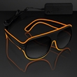 "Orange ""Neon Look"" Aviator EL Shades - Orange ""Neon Nights"" Aviator EL Shades, Blank Stock."