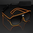 "Orange Aviator EL Shades - White ""Neon Nights"" Aviator EL Shades, 3-5 Days Domestic Imprint Production. 60 Days Overseas also available"