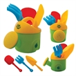 Toy Gardening Kit - Toy gardening kit with watering can, rake, shovel and trowel in assorted colors.