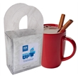 Cocoa Caddy - This clear acetate caddy contains four hot chocolate packages (full color process label on each package)