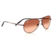 Serengeti Medium Aviator Sunglass - Serengeti Medium Aviator Henna frame, drivers lens sunglasses.