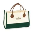 Fashion Tote - Natural/Dyed & Leather Handles - Fashion Tote - Natural/Dyed & Spade End Leather Handles. Made in the USA.