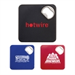 """Coaster with Bottle Opener - Combination coaster and bottle opener made of plastic and metal; measures 3 1/2"""" square."""
