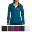 Sport-Tek Ladies' Sport-Wick Stretch Full-Zip Jacket - Soft-brushed, stretchy full-zip jacket with a gently contoured silhouette and moisture wicking.