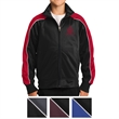 Sport-Tek Youth Piped Tricot Track Jacket - 100% polyester tricot track jacket with piping, soft-brushed backing, and raglan sleeves.
