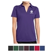 Sport-Tek Ladies' PosiCharge Active Textured Polo - Ladies' polo made of 100% polyester mesh with PosiCharge technology, an open placket, and self-fabric Johnny collar.