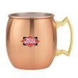 18 oz. Stainless w/electroplated copper Dutch Mule - Stainless steel 18 oz. mug with electroplated copper finish and brass handle.