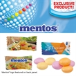 Individually Wrapped Assorted Fruit Mentos - Assorted fruit flavored mints, including lemon, strawberry and orange, with individually wrapped pillow packaging.
