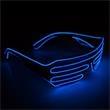 Light Up Sunglasses - Slotted - Blue EL Wire - Light Up Sunglasses - Slotted - Blue EL Wire
