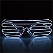 Light Up Sunglasses - Slotted - White EL Wire - Light Up Sunglasses - Slotted - White EL Wire