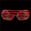 Light Up Sunglasses - Slotted - Red EL Wire - Light Up Sunglasses - Slotted - Red EL Wire