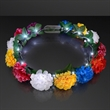 Rainbow Flower Crowns with White Lights
