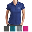 Nike Golf Ladies Dri-FIT Crosshatch Polo - Ladies' Crosshatch polo with a self-fabric collar, five-button placket, and open-hem sleeves.