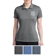 Nike Golf Ladies' Dri-FIT Heather Polo - Heathered polo made of 100% polyester with contrast stitch details and a feminine fit.