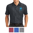 Nike Golf Dri-FIT Embossed Polo - Polo with embossed geometric graphics, moisture wicking, a self-fabric collar, three-button placket, and open-hem sleeves