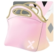 """Gran Klutch  4CP Duplex Neoprene Lunch Bag - 11.5"""" x 12"""" x 6"""" neoprene lunch bag with zipper closure, color stitching and bias trim at the top."""
