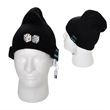 Wireless Knit Beanie - Acrylic knit beanie with built-in Bluetooth stereo headphones with microphone for music and hands free calling.