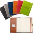 Tuscany™ Refillable Journal - Refillable journal with soft faux leather cover, pen loop and an elastic loop closure