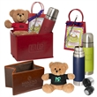 """Tuscany Thermal Bottle, Bear and Hot Cocoa Set - Set of one 7"""" teddy bear, one bottle, and hot chocolate mix."""