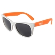 Neon Sunglasses - White Frame - Sunglasses with white frames and neon colored temples.