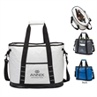 """Glacier Cooler Bag - 10"""" x 13.5"""" x 18"""" cooler bag with water resistant exterior; includes 1 1/2"""" x 47"""" padded shoulder strap with swivel clips."""