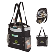 """Montreal Cooler Tote - 6.5"""" x 14.75"""" x 15"""" cooler tote with PEVA lining and foam insulation; includes 1 1/2"""" x 30"""" carrying straps."""