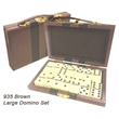 28 Piece Double Six Domino Set & Attache Case - E935 - Large domino set, with metal spinners and attache storage case.